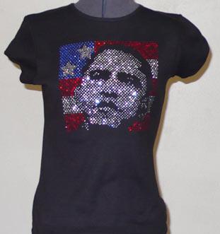 Obama Rhinestone image Shirt