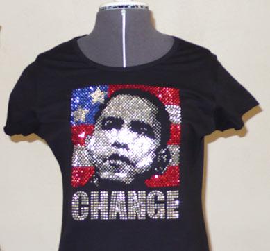 Obama Rhinestud image Shirt