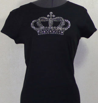Large Crown Rhinestone Shirt