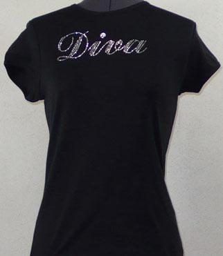 Diva Rhinestone Shirt