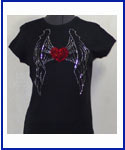 Heart with Wings Rhinestone Shirt