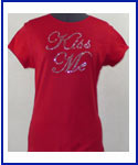 Kiss Me rhinestone Shirt