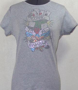 Love is a Gamble Rhinestone Shirt