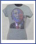 Obama multi color image Rhinestud Shirt