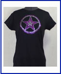 Purple Star rhinestone shirt