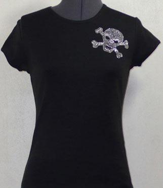 Small Skull Rhinestone Shirt