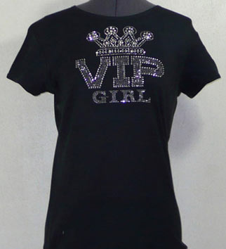 VIP Girl Rhinestone Shirt