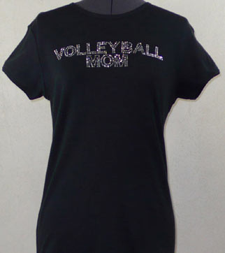 Volleyball Mom Rhinestone Shirt