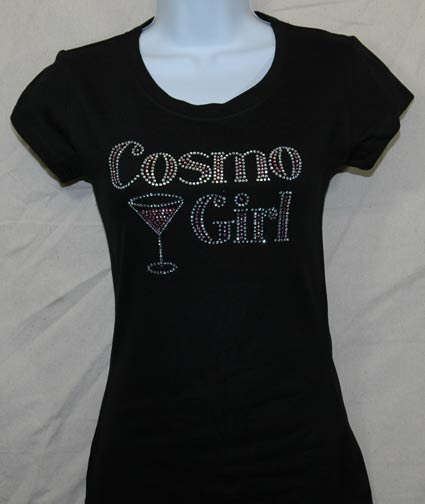 Cosmo Girl with glass Rhinestone Shirt