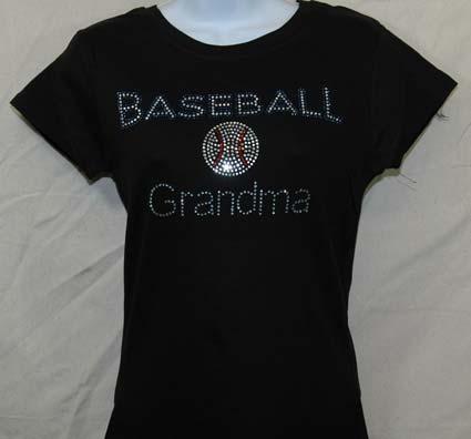 Baseball Grandma Rhinestone Shirt